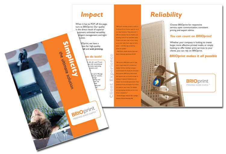 brochure design  sales brochures  marketing and small business design examples  chicago area